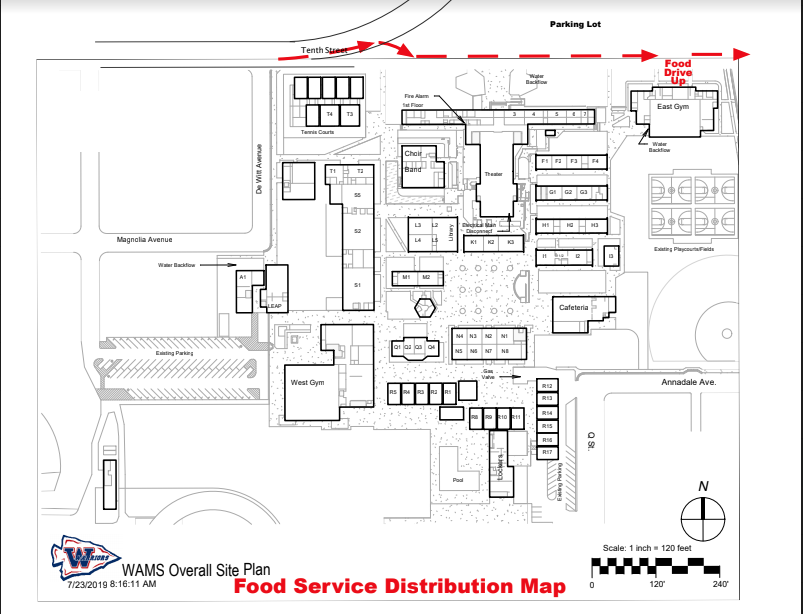 WAMS Lunch Map Distribution